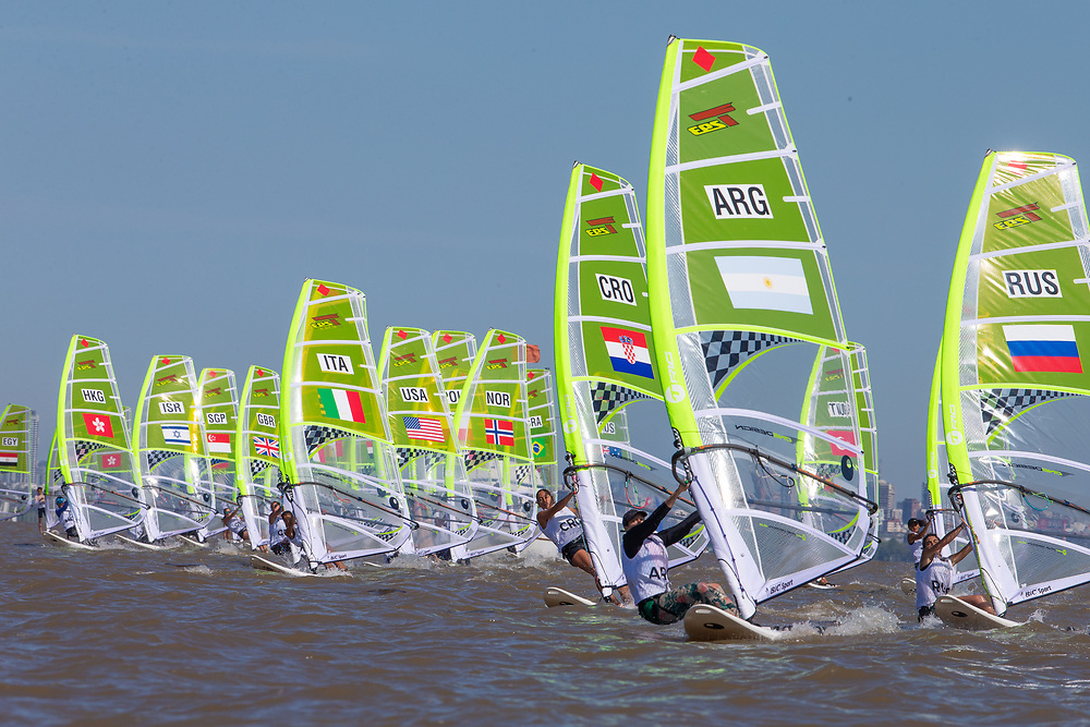 2018 Buenos Aires Youth Olympic Games. <br /> <br /> Five sailing events with 100 sailors from 44 different nations are taking place at Club N&aacute;utico San Isidro, Argentine including Girl's and Boy's Kiteboarding (Twin Tip Racing) and the Mixed Multihull (Nacra 15). Elsewhere, Girl's and Boy's Windsurfing (Techno 293+) are returning for its third consecutive Games from 6 to 18 October 2018.<br /> &copy; Matias Capizzano / World Sailing