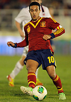 Spain's Thiago Alcantara during international sub21 match.March 21,2013. (ALTERPHOTOS/Acero)
