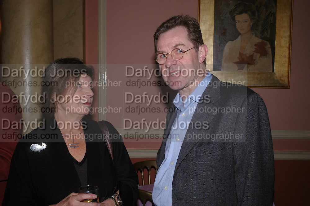 Margaret Drabble and Jeremy Treglown. Book party for 'Saturday' by Ian McEwan, Polish Club, South Kensington.  4 February 2005. ONE TIME USE ONLY - DO NOT ARCHIVE  © Copyright Photograph by Dafydd Jones 66 Stockwell Park Rd. London SW9 0DA Tel 020 7733 0108 www.dafjones.com