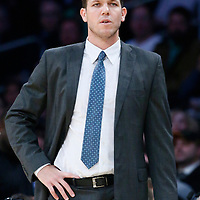 05 December 2016: Los Angeles Lakers head coach Luke Walton is seen during the Utah Jazz 107-101 victory over the Los Angeles Lakers, at the Staples Center, Los Angeles, California, USA.