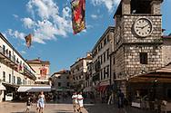 Kotor, in the Kotor Bay, Montenegro