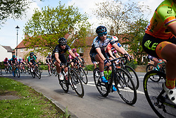 Susanne Andersen (NOR) and Rachele Barbieri (ITA) speed through Fishlake at ASDA Tour de Yorkshire Women's Race 2018 - Stage 1, a 132.5 km road race from Beverley to Doncaster on May 3, 2018. Photo by Sean Robinson/Velofocus.com