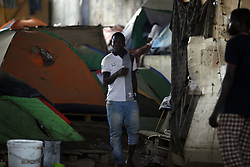 July 24, 2017 - Algiers, Algeria - The African migrant settles under the bridge of a motorway on the outskirts of Algiers, Algeria, July 24, 2017  (Credit Image: © Billal Bensalem/NurPhoto via ZUMA Press)