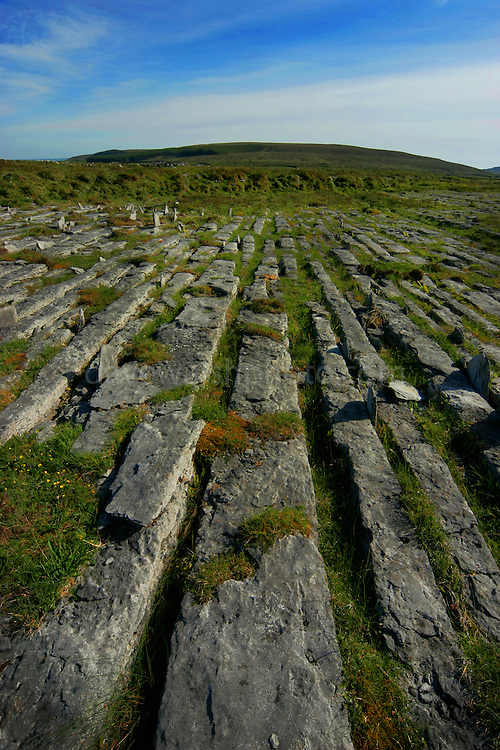 Limestone grikes and clints of the Burren, Co. Clare, Ireland -  pavements with crisscrossing cracks