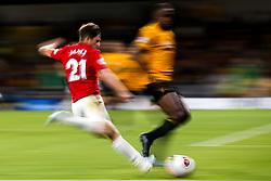 John Ruddy of Wolverhampton Wanderers takes on Willy Boly of Wolverhampton Wanderers - Mandatory by-line: Robbie Stephenson/JMP - 19/08/2019 - FOOTBALL - Molineux - Wolverhampton, England - Wolverhampton Wanderers v Manchester United - Premier League