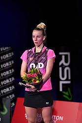 DK:<br /> 20190209, &Aring;rhus, Danmark:<br /> Badminton Danmark FZ Forza/RSL DM 2019. <br /> Dame single: Mia Blichfeldt vs. Line Kj&aelig;rtsfeldt. <br /> S&oslash;lvvinder Mia Blichfeldt.<br /> Foto: Lars M&oslash;ller<br /> UK: <br /> 20190209, Aarhus, Denmark:<br /> Badminton Danmark FZ Forza/RSL DM 2019.<br /> Dame single: Mia Blichfeldt vs. Line Kj&aelig;rtsfeldt. S&oslash;lvvinder Mia Blichfeldt.<br /> Photo: Lars Moeller