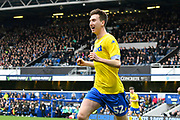 Goal - Aapo Halme (52) of Leeds United celebrates scoring a goal to make the score 1-1 during the The FA Cup 3rd round match between Queens Park Rangers and Leeds United at the Loftus Road Stadium, London, England on 6 January 2019.