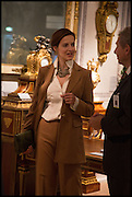AIGA SATTLER at the preview of LAPADA Art and Antiques Fair. Berkeley Sq. London. 23 September 2014.