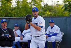 May 24, 2007; Trenton, NJ, USA;  Roger Clemens (22) warms up prior to his Eastern League start for the Trenton Thunder (New York Yankees Double-A affiliate) at Waterfront Park in Trenton, NJ.