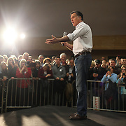 March 2, 2012 ? U.S. presidential candidate Mitt Romney addresses supporters at Highland Park Community Center in Bellevue. Romney made the appearance one day before the Washington State Republican caucus.
