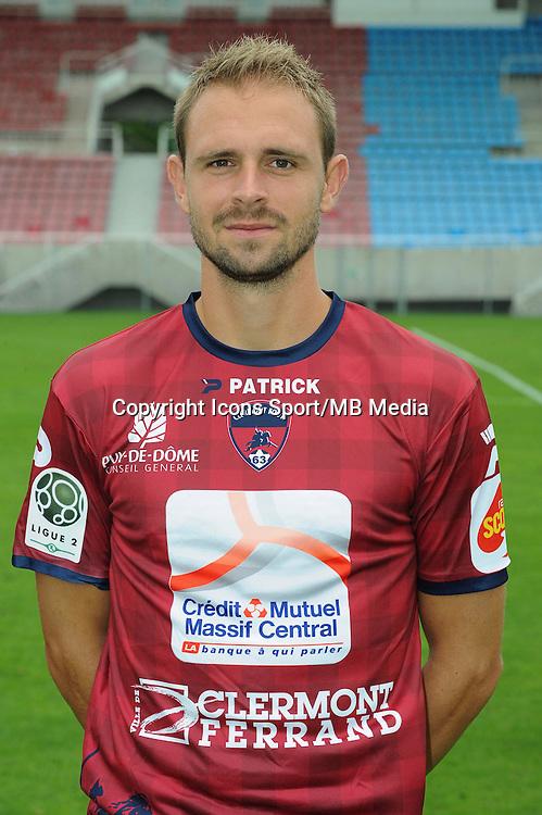 Baptiste MARTIN - 30.07.2014 - Portraits officiels Clermont - Ligue 2<br /> Photo : Jean Paul Thomas / Icon Sport
