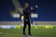 Brighton Manager, Chris Hughton during the EFL Cup match between Brighton and Hove Albion and Reading at the American Express Community Stadium, Brighton and Hove, England on 20 September 2016.