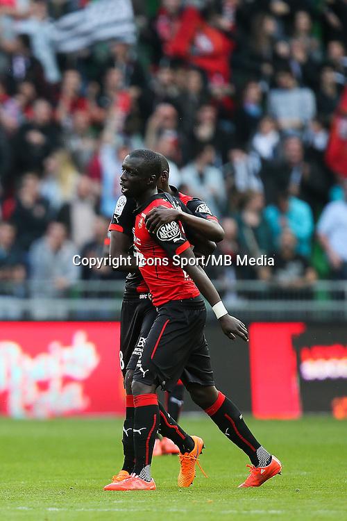 Joie Cheik MBENGUE / Abdoualye DOUCOURE - 12.04.2015 - Rennes / Guingamp - 32eme journee de Ligue 1 <br /> Photo : Vincent Michel / Icon Sport