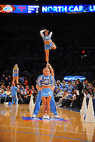 University of North Carolina Tarhees cheerleaders during the 2K Sports Classic at Madison Square Garden. (Mandatory Credit: Delane B. Rouse/Delane Rouse Photography)