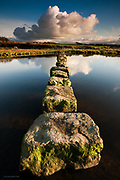 Ancient stepping stones across the Afon Braint, Dwyran, Anglesey