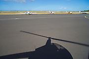 Helicopter shadow, Honolulu Airport, Oahu, Hawaii