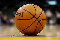 06 March 2006: The official NBA basketball made by Spalding at the STAPLES Center in Los Angeles, CA.