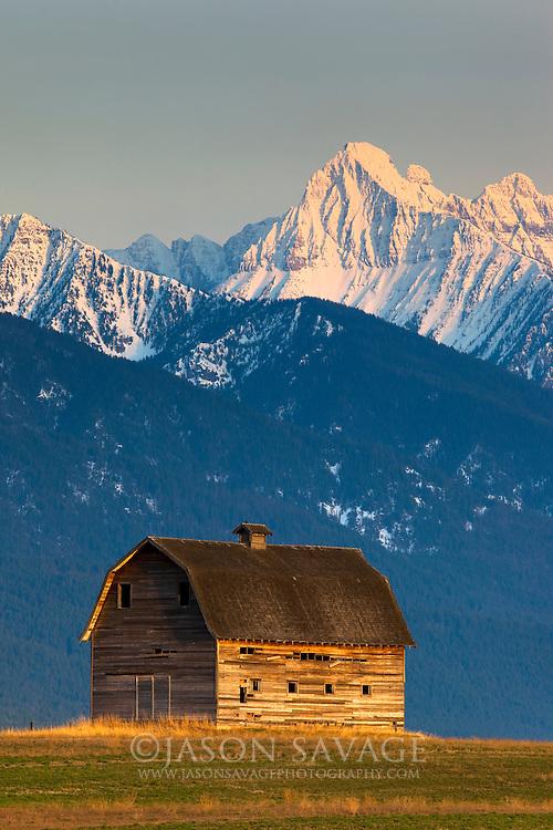 Mission Mountains near Polson, Montana