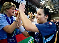 Anja Argenti of Slovenia after the Women European Championships Qualifying handball match between National Teams of Slovenia and Belarus, on October 17, 2009, in Kodeljevo, Ljubljana.  (Photo by Vid Ponikvar / Sportida)