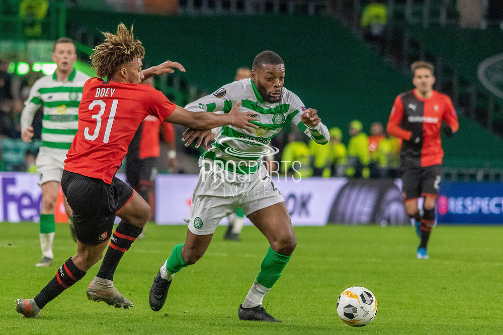 Olivier Ntcham (#21) of Celtic during the Europa League match between Celtic and Rennes at Celtic Park, Glasgow, Scotland on 28 November 2019.