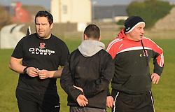 Ballinrobe&rsquo;s coaches Trevor Watson and Seamus O&rsquo;Toole.<br />Pic Conor McKeown