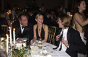Simon Astaire,  Saffron Aldridge and Ben Elliot. Bulgari/NSPCC Snow Ball, Mandarin Oriental. 11 December 2002. © Copyright Photograph by Dafydd Jones 66 Stockwell Park Rd. London SW9 0DA Tel 020 7733 0108 www.dafjones.com