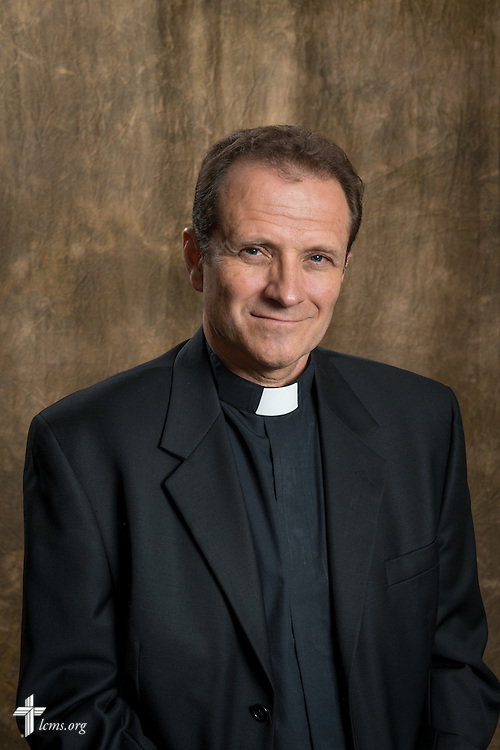 Portrait of the the Rev. Dan McMiller, director of LCMS missionary recruitment, in the studio of the International Center of The Lutheran Church–Missouri Synod on Thursday, August 7, 2014, in Kirkwood, Mo.  LCMS Communications/Erik M. Lunsford