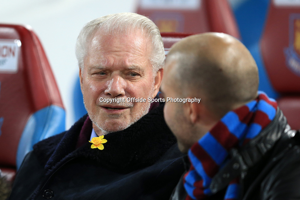4 March 2015 - Barclays Premier League - West Ham United v Chelsea - David Gold, joint chairman of West Ham - Photo: Marc Atkins / Offside.