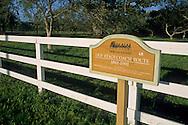 Old Wells Fargo Stage Coach route marker sign, Los Olivos, Santa Barbara County, California