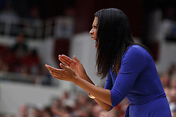 January 20, 2011; Stanford, CA, USA;  UCLA Bruins head coach Nikki Caldwell on the sidelines against the Stanford Cardinal during the first half at Maples Pavilion.  Stanford defeated UCLA 64-38.
