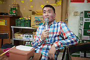 April 23, 2016: Kieu enjoys a night of karaoke near his old factory in Hukou Industrial Park.