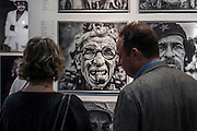 Works by James Sparshatt in the Capital Culture  Gallery. The Affordable Art Fair opens in Battersea and runs until 15 March. The fair offers visitors a chance to purchase work from over 100 galleries at prices between £50 and £4,000. Battersea Park, London UK 11 March 2015. Guy Bell, 07771 786236, guy@gbphotos.com