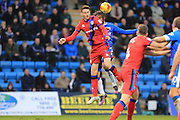 Scott Tanser clears under pressure during the EFL Sky Bet League 1 match between Gillingham and Rochdale at the MEMS Priestfield Stadium, Gillingham, England on 26 November 2016. Photo by Daniel Youngs.