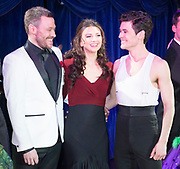 Strictly Ballroom The Musical <br /> Press photocall / publicity stunt <br /> at Cafe de Paris, London, Great Britain <br /> 14th February 2018 <br /> <br /> <br /> <br /> Will Young <br /> Zizi Strallen <br /> Jonny Labey<br /> <br /> <br /> <br /> Photograph by Elliott Franks