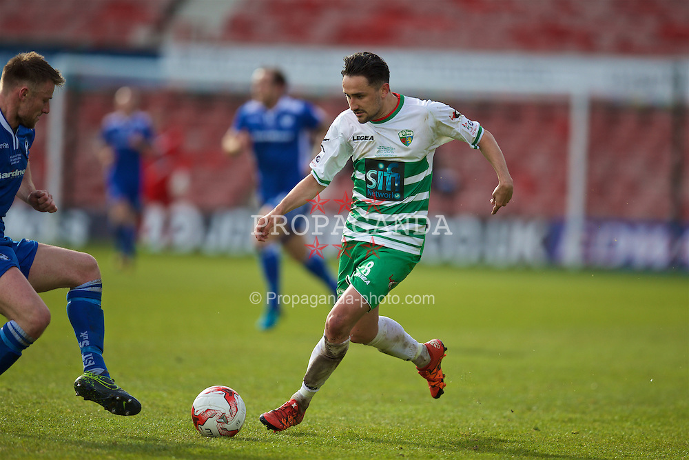 WREXHAM, WALES - Monday, May 2, 2016: The New Saints' Ryan Brobbel in action against Airbus UK Broughton during the 129th Welsh Cup Final at the Racecourse Ground. (Pic by David Rawcliffe/Propaganda)