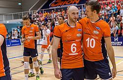 04-06-2016 NED: Nederland - Duitsland, Doetinchem<br /> Nederland speelt de tweede oefenwedstrijd in Doetinchem en verslaat Duitsland opnieuw met 3-1 / Jasper Diefenbach #6, Jeroen Rauwerdink #10