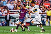 Leo Messi from Argentina during the Joan Gamper trophy game between FC Barcelona and CA Boca Juniors in Camp Nou Stadium at Barcelona, on 15 of August of 2018, Spain.