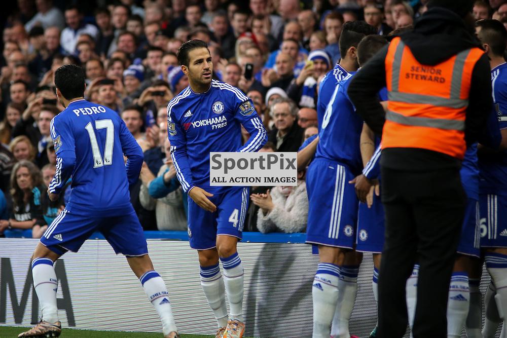 Cesc Fabregas During Chelsea vs Sunderland on Saturday the 19th December 2015.