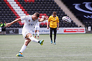 Lloyd White  kicks the extra points for Widnes during the First Utility Super League match between Widnes Vikings and Wakefield Wildcats at the Select Security Stadium, Halton, United Kingdom on 21 August 2016. Photo by Craig Galloway.