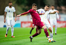 Egzon Kryeziu of Triglav vs Blaž Vrhovec of Maribor during Football match between NK Triglav and NK Maribor in 25th Round of Prva liga Telekom Slovenije 2018/19, on April 6, 2019, in Sports centre Kranj, Slovenia. Photo by Vid Ponikvar / Sportida