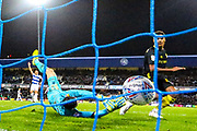 Goal Brentford forward Ollie Watkins (11) scores a goal 1-3 during the EFL Sky Bet Championship match between Queens Park Rangers and Brentford at the Kiyan Prince Foundation Stadium, London, England on 28 October 2019.