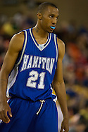 November 26, 2008: Hampton forward Michael Freeman (21) in the first half against Hampton in the opening game of the 2008 Great Alaska Shootout at the Sullivan Arena.