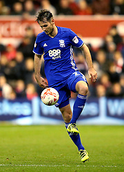 Jonathan Grounds of Birmingham City controls the ball - Mandatory by-line: Robbie Stephenson/JMP - 14/10/2016 - FOOTBALL - The City Ground - Nottingham, England - Nottingham Forest v Birmingham City - Sky Bet Championship