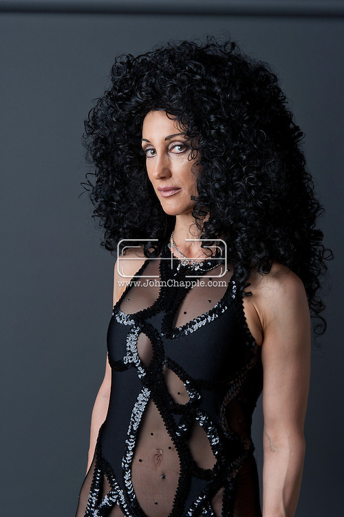 24th February 2011. Las Vegas, Nevada.  Celebrity Impersonators from around the globe were in Las Vegas for the 20th Annual Reel Awards Show. Pictured is Cher, aka Joyce Sada from Vancouver. Photo © John Chapple / www.johnchapple.com..