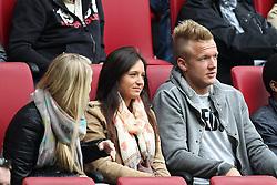 27.04.2013, SGL Arena, Augsburg, GER, 1. FBL, FC Augsburg vs VfB Stuttgart, 31. Runde, im Bild auf der Tribuene Kevin VOGT #6 (FC Augsburg) // during the German Bundesliga 31 th round match between FC Augsburg and VfB Stuttgart at the SGL Arena, Augsburg, Germany on 2013/04/27. EXPA Pictures © 2013, PhotoCredit: EXPA/ Eibner/ Kolbert..***** ATTENTION - OUT OF GER *****
