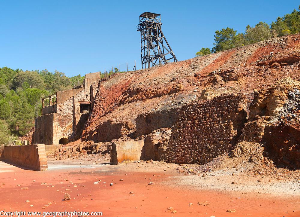 Peña del Hierro Mine, Minas de Riotinto, Rio Tinto mining area, Huelva province, Spain