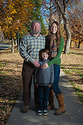 Holveck family poses for portraits in downtown Reno on Sunday, Nov 13, 2016.