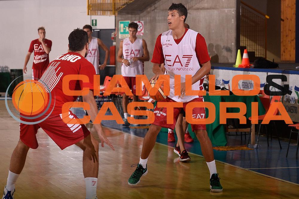 Simone Fontecchio <br /> EA7 Emporio Armani Olimpia Milano allenamento<br /> Lega Basket Serie A 2016/2017<br /> Bormio 25/08/2016<br /> Foto Ciamillo-Castoria