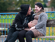 EXCLUSIVE<br /> Going to be a dad again Former X Factor contestant Wagner, 58, having a second baby and was pictured yesterday with his with his 22-year-old girlfriend and first born child as they spent a day in the park.<br /> ©Exclusivepix