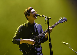 © Licensed to London News Pictures. 25/11/2013. London, UK.   Dan Croll performing live at Brixton Academy, supporting headliner Imagine Dragons.   Dan Croll  is a British singer-songwriter who at aged 18 attended the Liverpool Institute for Performing Arts (LIPA). While at LIPA, he won the national Songwriter of the Year award from the Musicians Benevolent Fund and was one of eight students picked to have a one-to-one with LIPA founder Sir Paul McCartney. Dan is currently signed to Turn First Records and is promoting his single 'From Nowhere'. Photo credit : Richard Isaac/LNP